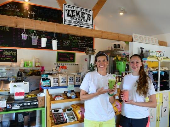 Lisa Daisey-DiFebo alongside Hannah Gentry inside the Juicebox located in Ocean View on Wednesday, June 21, 2017.
