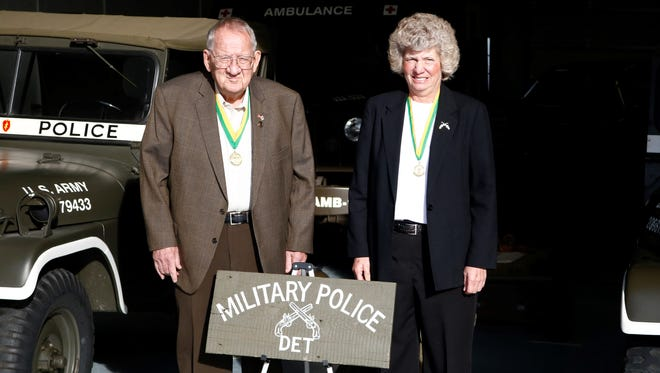 Dave and Judy Wilson of Brook have spent the last two decades creating a roster of all those who served as military police officers in the 25th Infantry Division.