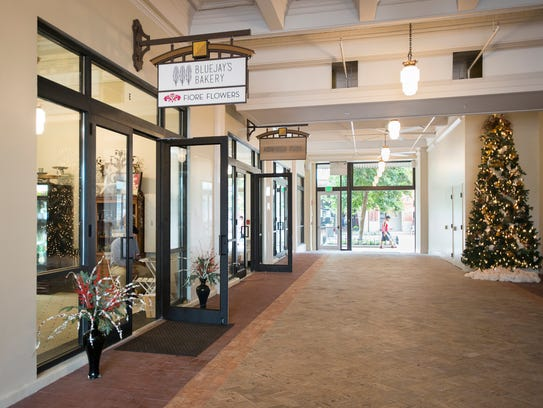 Businesses in the breezeway at One Palafox Place are