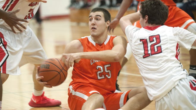Cherokee senior forward Steve Gervasi scoops up a loose ball during a game against Cherry Hill East earlier this season. The Chiefs have won 10 in a row.