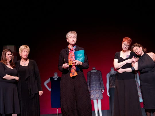 """The cast of Civic Theatre's presentation of """"Love, Loss, and What I Wore,"""" from left: Candi Vincent, Paula Boenigk, Kris Zinn, Gracie Strange, and Kelly Trafton."""