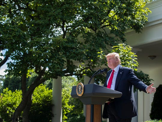 President Trump announces that the U.S. is withdrawing