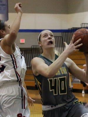 Beaver Dam's Tara Stauffacher (left, shown in a game last month) scored 17 points on Saturday.
