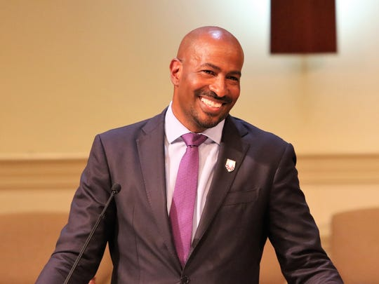 CNN Host, Political Commenter and Author Van Jones returned to his hometown of Jackson for a welcome home program at St. Paul CME Church and to speak at Lane College's 2018 spring commencement.