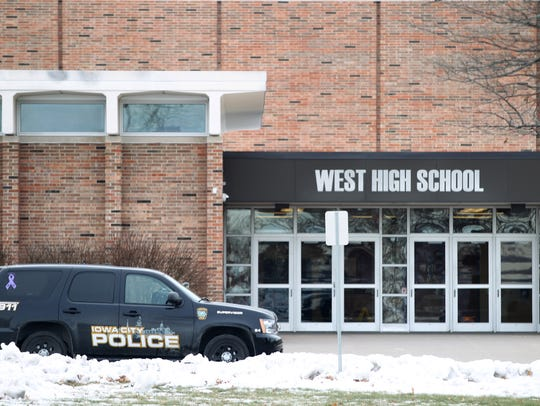 Iowa City police responded to a bomb threat at West
