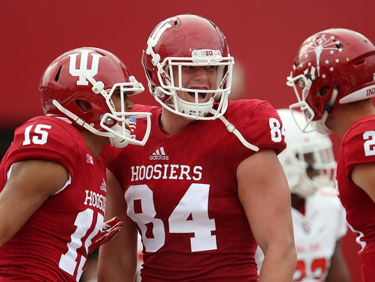 Danny Friend (84) has been IU's top tight end this