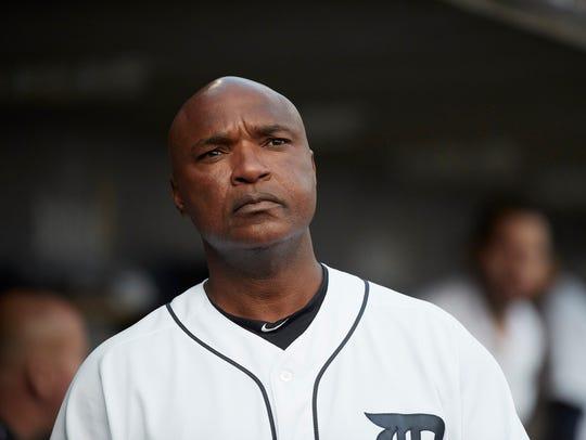 Jun 14, 2017; Detroit, MI, USA; Tigers third base coach
