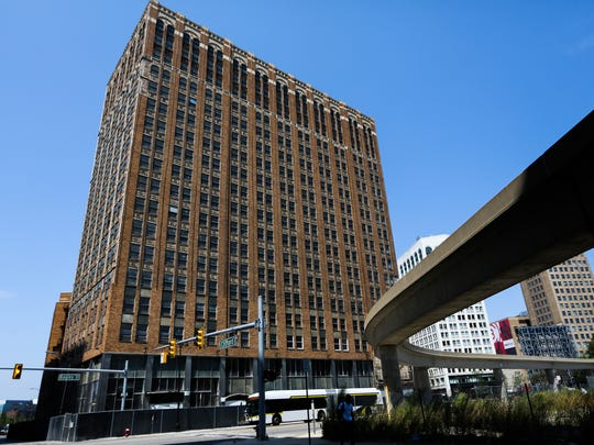 The United Artists Theatre is located at 150 Bagley in downtown Detroit. This Ilitch-owned building, which was photographed on Aug. 21, 2017, will be redone and offer 148 apartments and first-floor retail. Renovations could begin later this year.