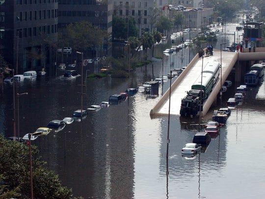 Hurricane Katrina left much of New Orleans underwater