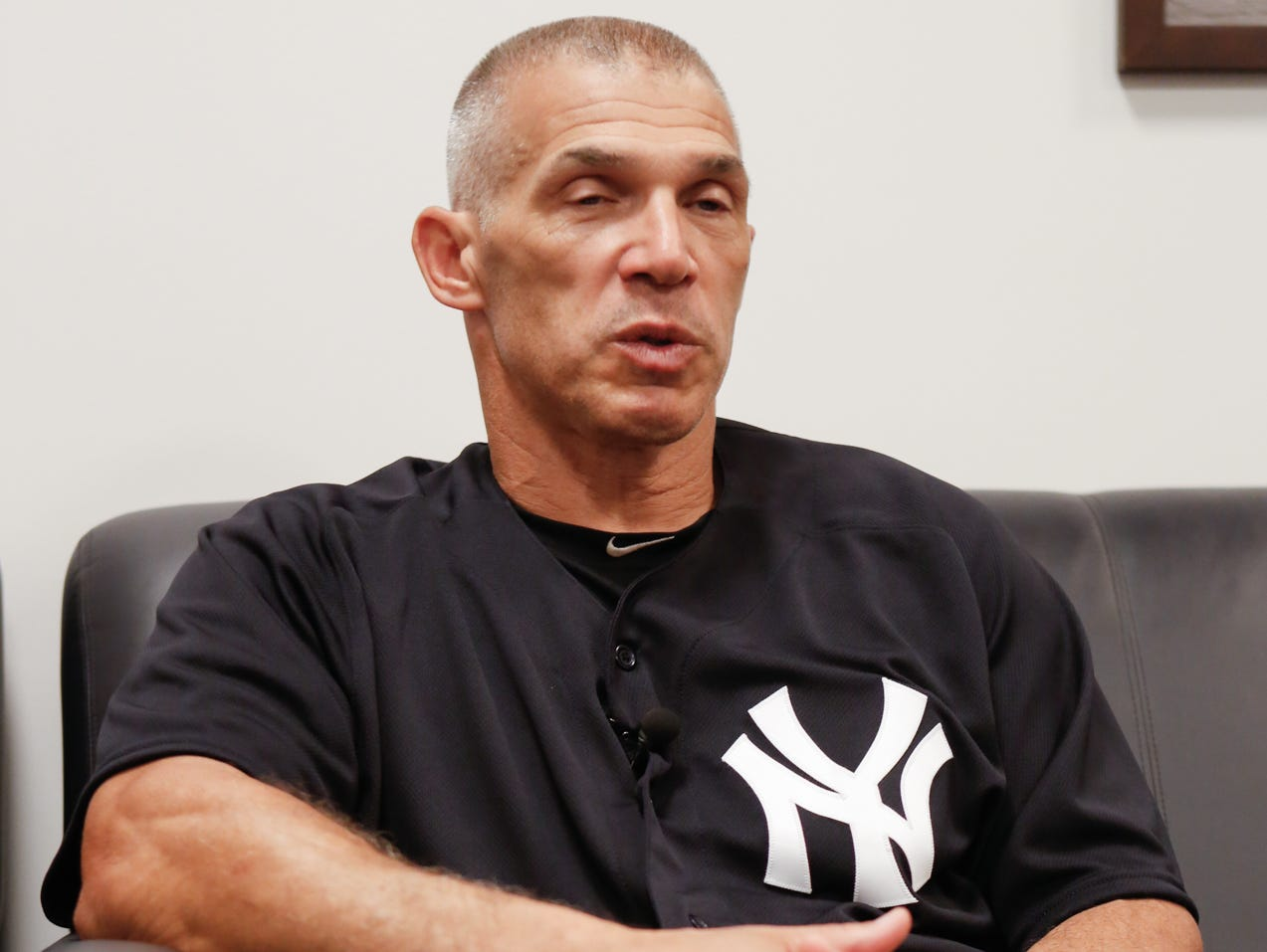 Yankee manager Joe Girardi talks about youth sports on Wednesday, July 20, 2016.