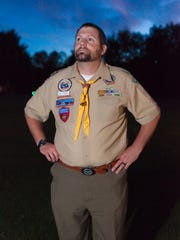 Dave McAllister, Cub Scout leader, at his home in Morrisville last week.