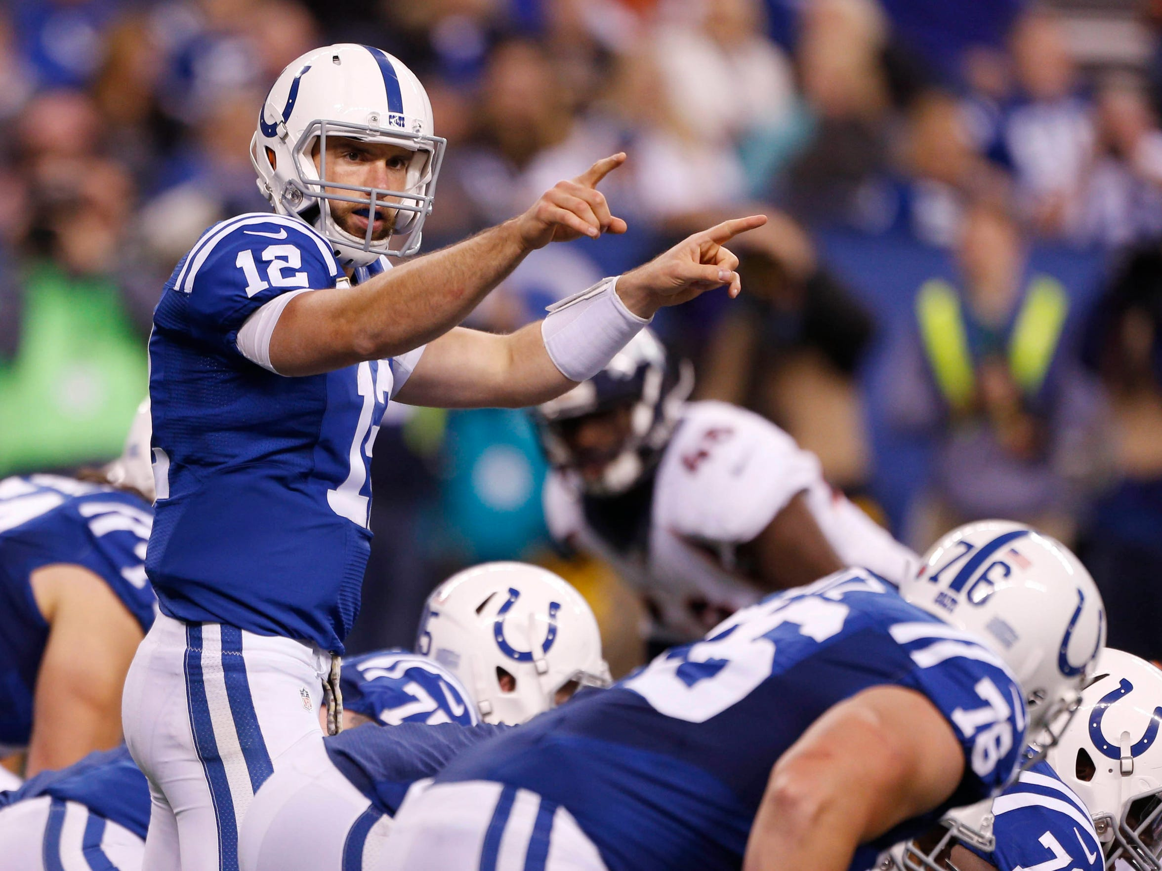 Andrew Luck is the quarterback of the Indianapolis