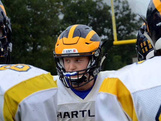 Freshman quarterback Zach Trainor led Hartland to an