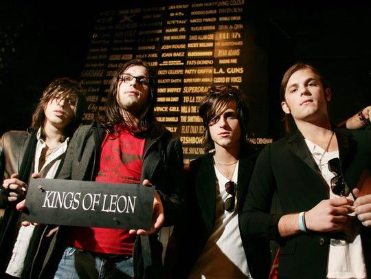 Matthew, Nathan, Jared and Caleb Followill of the band