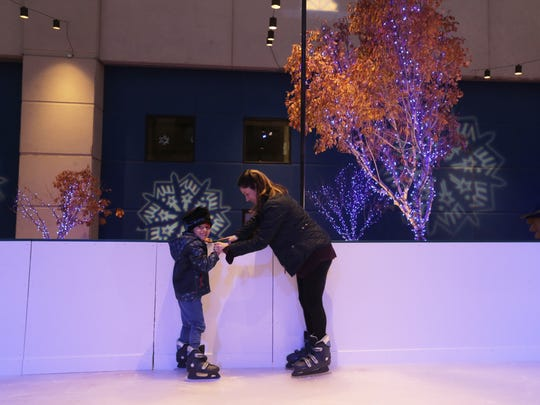 Taking to the ice-skating rink is part of the fun at WinterFest.
