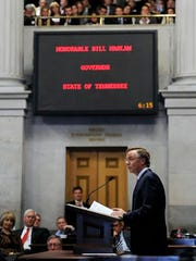 While Gov. Bill Haslam's remarks Monday earned applause,