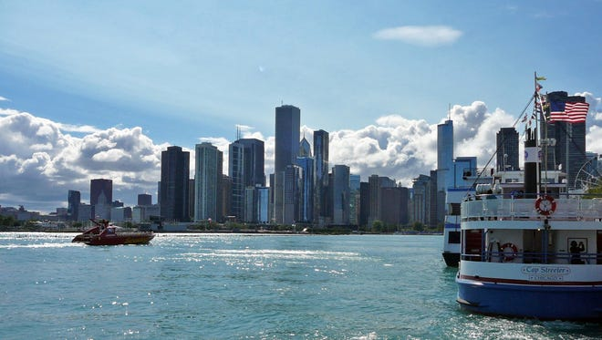 Waterfront and skyline views of Chicago are plentiful at Navy Pier, which is 100 years old.