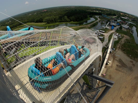 AP APTOPIX  WORLDS TALLEST WATERSLIDE A FEA SPF USA KS