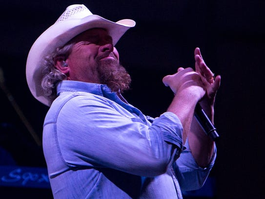 Toby Keith preforms at the Birds Nest in Scottsdale,