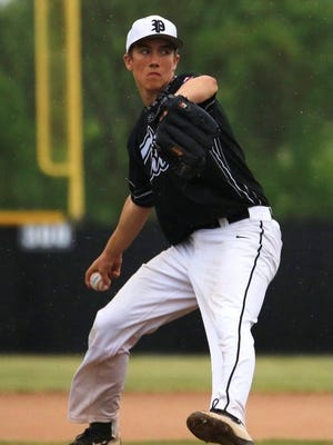 Plymouth's Mike Matovina delivers a pitch last season. He is among several key returning players for the Wildcats.