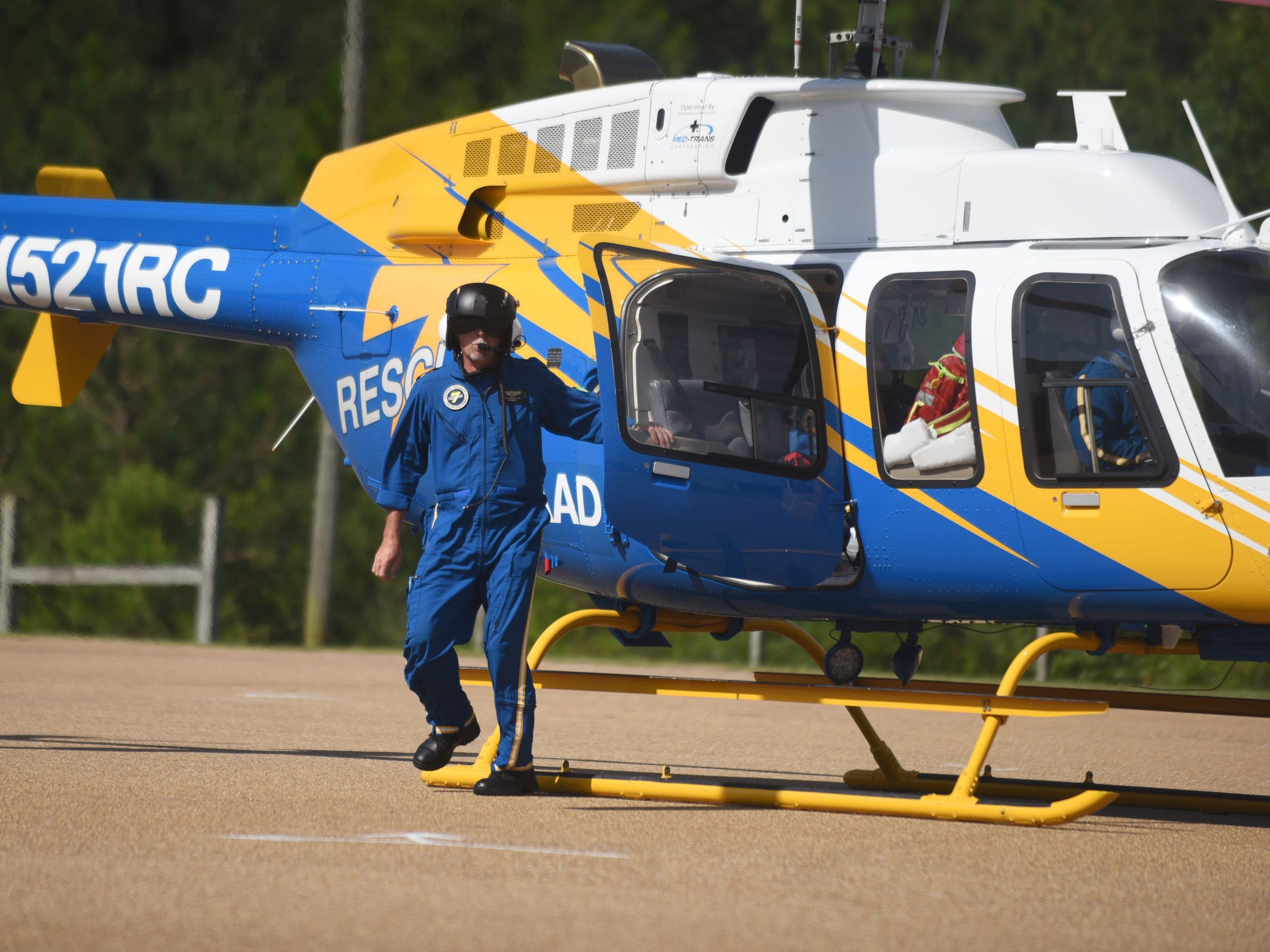 Med-Trans operates private air ambulances in the Pine Belt area. If they're picked up by Med-Trans, privately insured patients can expect to be charged a base rate of $22,710 base rate plus $216 for every mile they travel.