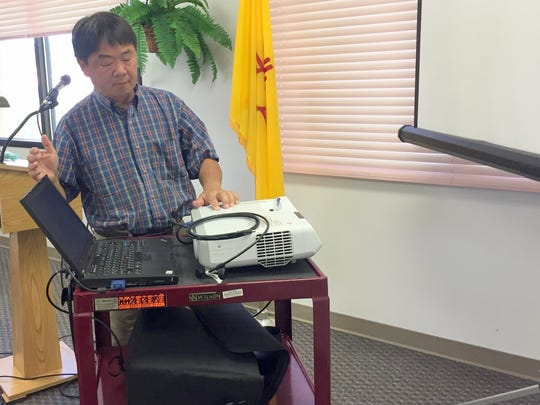 Steve Chang of Techserviceondemand did a presentation of informational technology support for small businesses during Wednesday's Chamber of Commerce Luncheon at Western New Mexico University.
