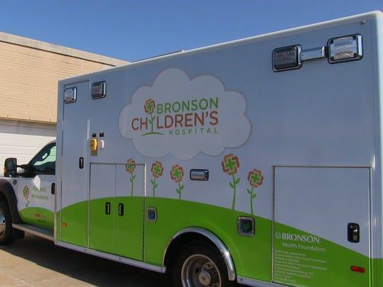 A new pediatric transport ambulance was on display at Bronson Battle Creek Monday.