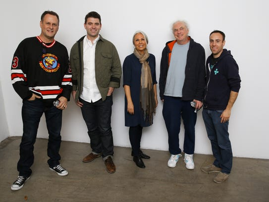 The Talking Tech Roundtable panel: Dave Coulier, Chris