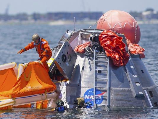 Astronauts Water Training