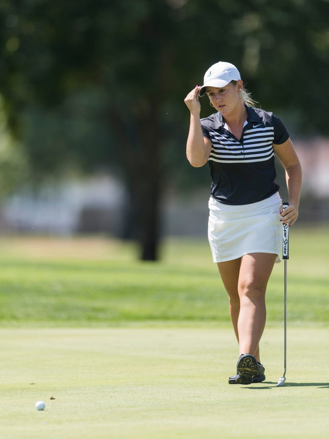 North's Hadley Walts has now been apart of four consecutive girls' golf city, SIAC, sectional and regional championship teams. She and the Huskies will go for a four-peat next weekend at the IHSAA state finals.