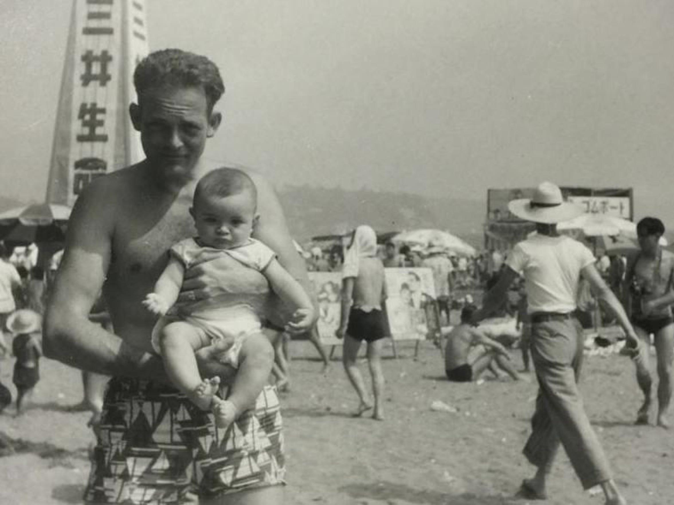 James Belcher Sr. and James Belcher Jr. at Kamakura