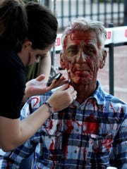 Attendees at the Zombie Walk had the option to make