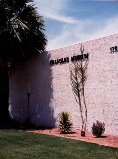 The Chandler Museum in 1988 in the old library building.