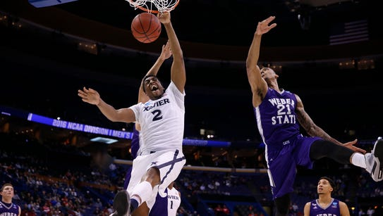 Xavier's James Farr scored 18 points in the Musketeers