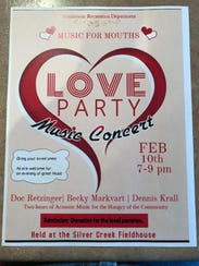 Music For Mouths concert poster.