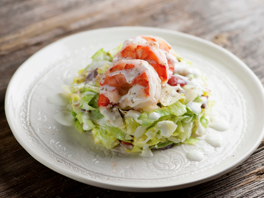 Pressed Wedged Salad with Shrimp