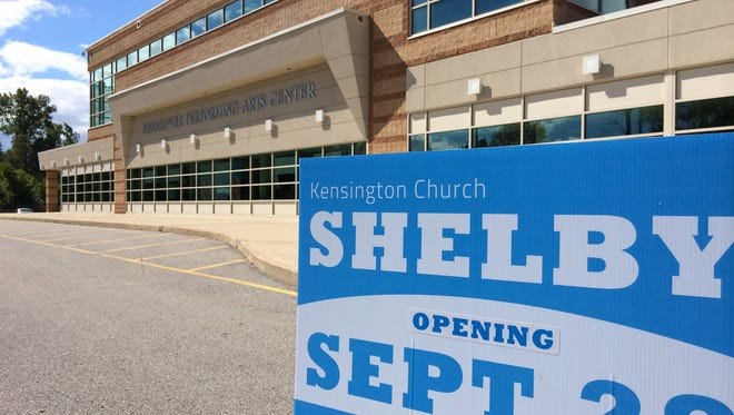 At Eisenhower High School in Shelby Township,  Kensington Church held a practice service Sunday in preparation for the launch of its Shelby campus, which will be the sixth Kensington.