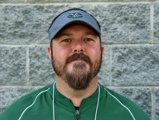 Derek Witt, Carter High School coach, during the Knoxville