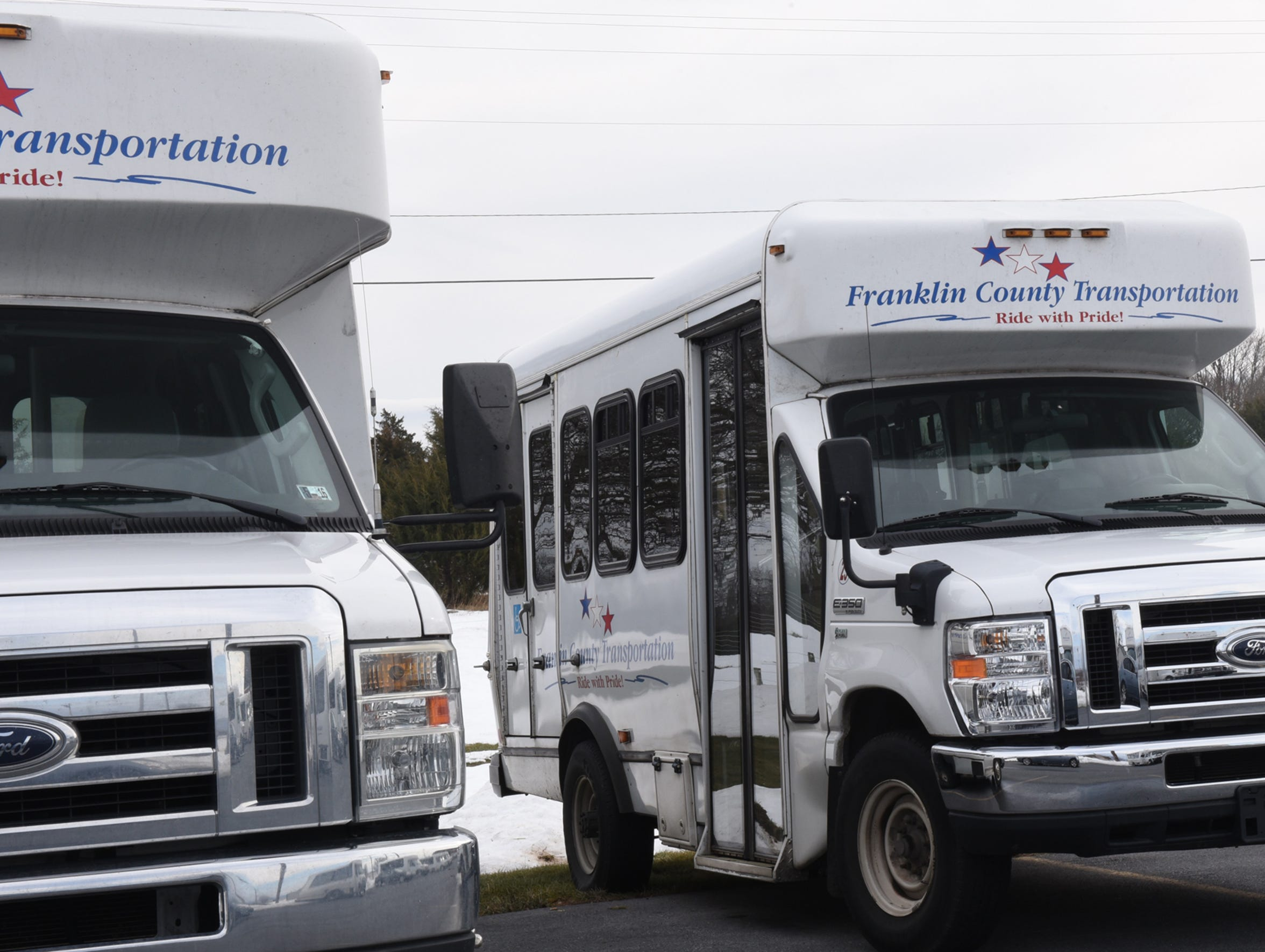 A file photo of Franklin County Transportation buses.