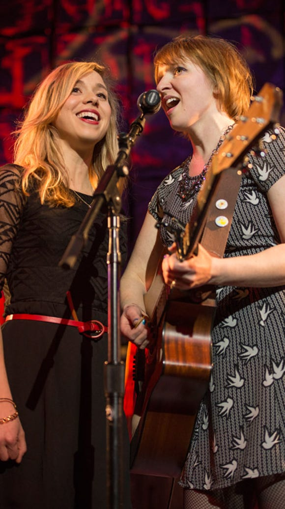 Molly Rue Leitner (left) and Nancy Micciulla perform