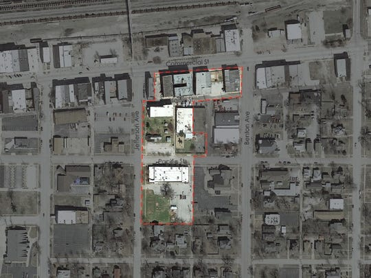 This map shows The Kitchen's former campus on and near Commercial Street. It was purchased by a developer last month.
