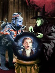 """Margaret Hamilton and Judy Garland in """"The Wizard of Oz."""""""