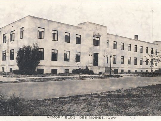 An historic photo of the Argonne Armory Building along