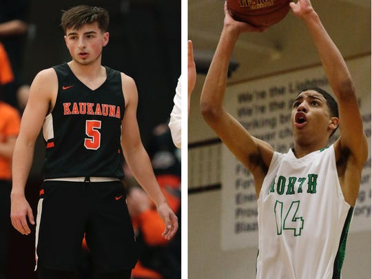 Kaukauna's Jordan McCabe (left) and Tyrese Haliburton of Oshkosh North will take their considerable talents to Division I programs at West Virginia and Iowa State, respectively, next fall.