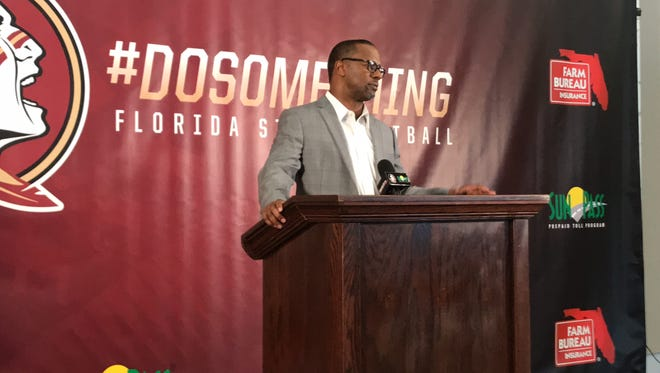 FSU coach Willie Taggart addresses the media on National Signing Day