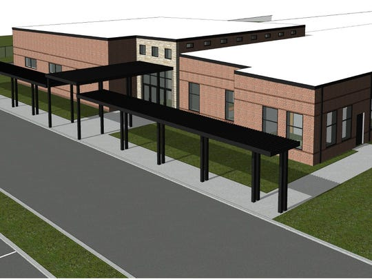 A rendering shows the additions planned for Inskip Elementary School.