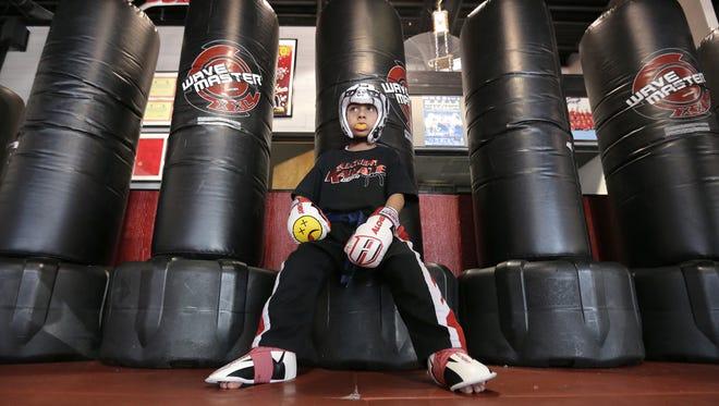 Five-year-old Christian Alvarado holds several karate titles, including three world championships.
