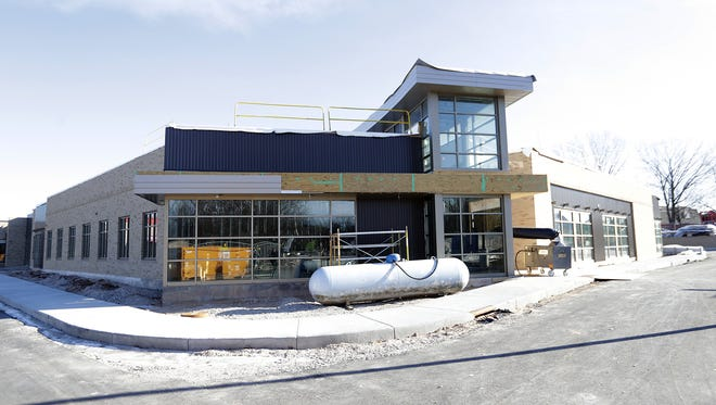 Exterior of the new addition to the CP Center in Allouez.