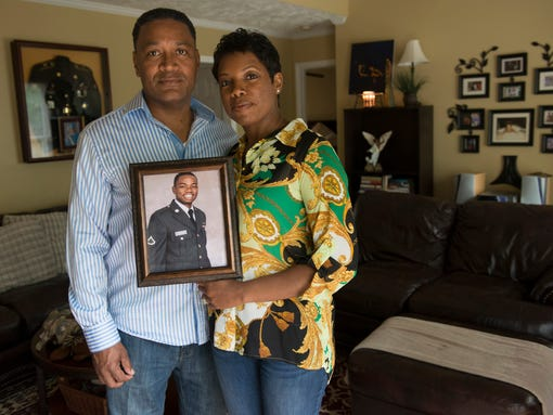 Fred and Elisia Hodges' son Christopher was part of the Army Substance Abuse Program (ASAP) at Fort Gordon in Augusta, Ga. In 2011, Christopher ended up on an expressway in Augusta, shooting at cars. He eventually killed a police officer and then himself. (Photo: Kelly Creedon for USA TODAY)