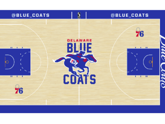 How the Delaware Blue Coats new home court will look.